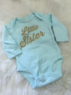 Little Sister Long Sleeve Onesie