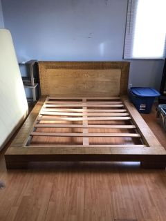 Structube queen bed frame PRICED TO SELL TODAY