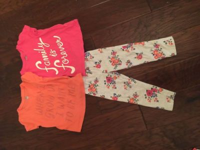 2T set-includes 2 shirts and 1 pant