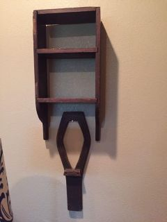 Cool antique shelf-$10, wood piece under it-not sure what it is?-$5 or both for $12