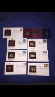 22k Gold Replica Stamps (includes 1918 24 Inverted Jenny Replica)
