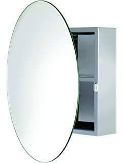 Oval Bathroom Medicine Cabinet with Oval Beveled Mirror - New!