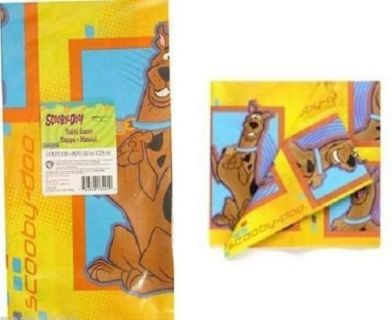 NEW Scooby Doo Retired Print Table Cover Birthday Party Supplies