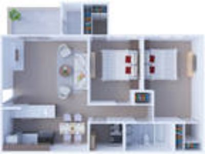 Windsor Estate Apartments - Two BR Floor Plan B1
