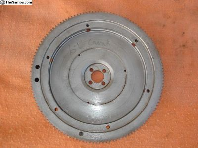 12-Volt Flywheel cut to go on a 6-Volt crank.