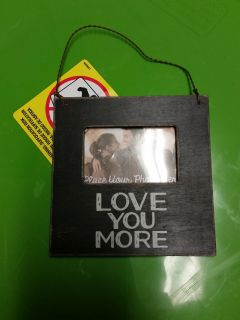 New! Small wood frame w hanger and magnet in back