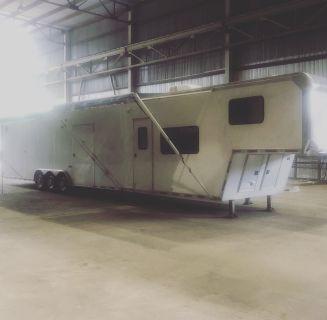 48 Ft Race Trailer with Living Quarters