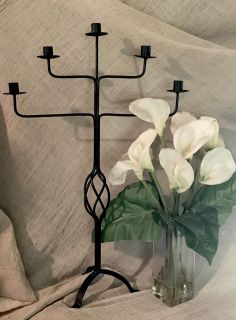 Tall, Floor or Table Iron Candelabra. 30 tall 19 wide