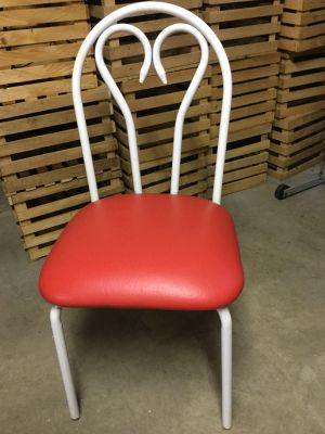 Red and White 50s chair