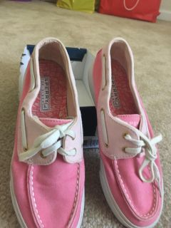 Sperry biscayne pink. In box size 6