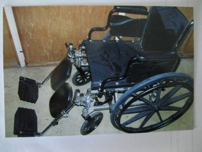 Invacare Wheelchair - used ONCE - Like new