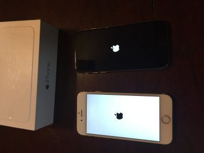 Two UNLOCKED iPhone 6 (f/Verizon, use on any carrier)