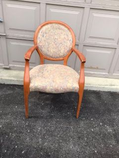 French Style Armed Chair. Would be beautiful redone.