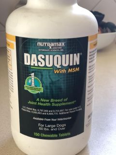 FREE Dasuquin with MSM for dogs 60 lbs or over. Approximately 70-80 tablets.