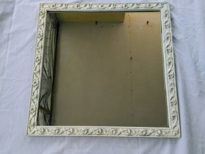20th CENTURY CAST METAL FRAMED MIRROR