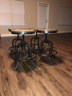 Set of four barstools