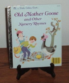 Vintage 1988 Old Mother Goose and Other Nursery Rhymes A Lottle Golden Book Hard Cover