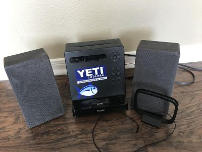 Sony ihome, CD player, radio etc , has antenna but not sure how it hooks up