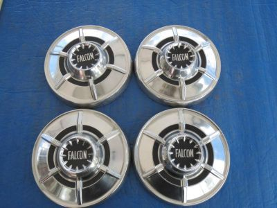 "Purchase SET OF 4 USED 1964 1965 FORD FALCON DOG DISH HUBCAPS 9.5"" SF3 motorcycle in Philadelphia, Pennsylvania, US, for US $110.00"