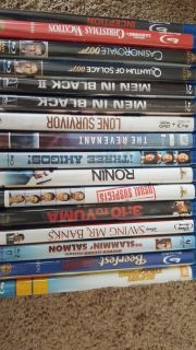 DVDs. Many titles