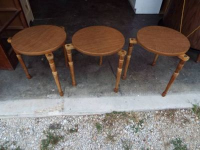 End Tables*Stackable*Wood*