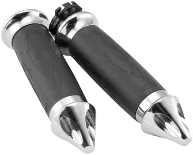 Buy Avon Grips Custom Contour Spike Grips - Tribal - Chrome TRIB-92-CH motorcycle in South Houston, Texas, US, for US $62.95