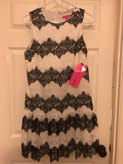 Betsey Johnson Black&White Lace Dress WTags SZ SM