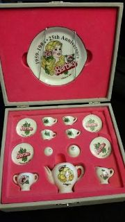 25th Anniversary Miniature 14 Piece Teapot Set