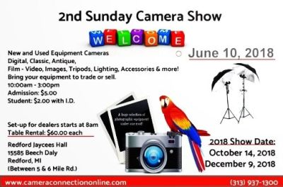2nd Sunday Camera Show- Buy Sell Trade all photographic equipment!