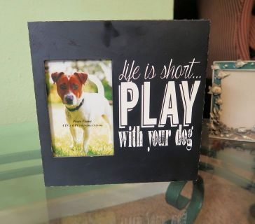 9.5x9.5 Play With Your Dog Pet Frame