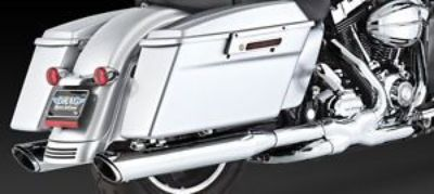 Sell Vance and Hines Chrome Twin Slash Rounds - Harley FL Slip on Mufflers 1801-0392 motorcycle in Sorrento, Florida, United States, for US $449.99