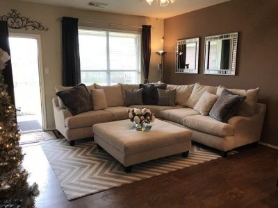 Large Sectional Sofa & Ottoman - Gallery Furniture