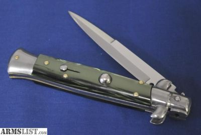 For Sale: Italian Stiletto Knife Spring Assist FRANK B. - Excellent