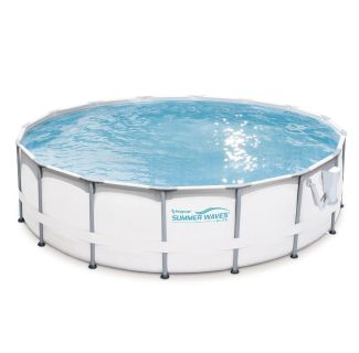 Summer Waves Elite 16 x48 above ground premium frame swimming pool and upgraded ladder, sand filter, accessories, and solar cover!
