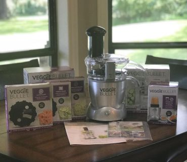 Brand new Veggie Bullet with additional accessories. Never been used.