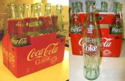 $40 Coke 16 Ounce Bottles In Original Paper Carton Very Nice Collectible