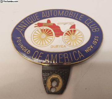 AACA Car Badge. #1