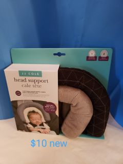 Car seat baby head supports