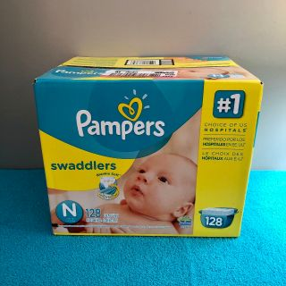 (( Un-Opened. )) Pampers Swaddlers Newborn Diapers. - - - 128 Count.