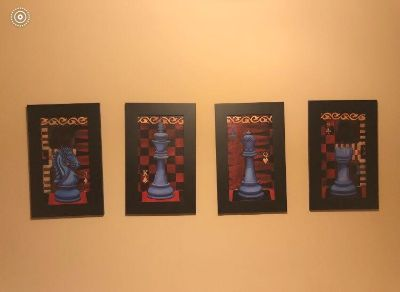 Set of 4 chess pictures