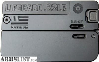 For Sale: NIB TRAILBLAZER LIFECARD .22LR SINGLE SHOT BLK