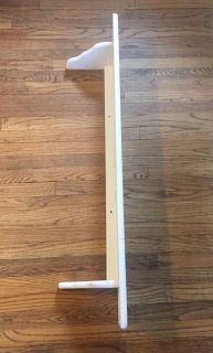 """46"""" White Wood Wall Shelf. Perfect for above a window or door. Added pics for inspiration. CP"""