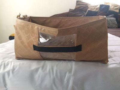Three collapsible storage boxes; all three for $5