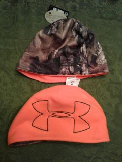 UNDER ARMOUR MENS L/XL REVERSIBLE MOSSY OAK CAMOUFLAGE HUNTING BEANIE