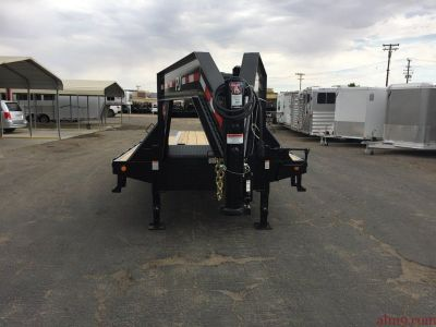 30ft Gooseneck with Hydraulic Dovetail, Flatdeck Trailer, PJ Trailers LY302
