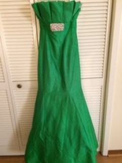 formal green gown