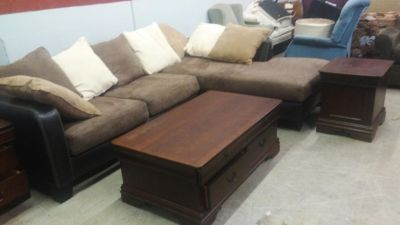4 piece living room set sectional coffee table and 2 end tables delivery available