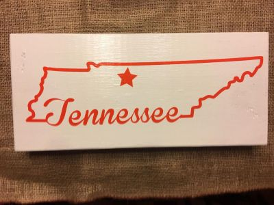 Wood Tennessee sign