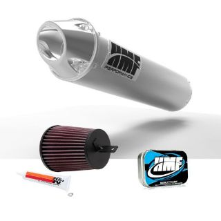 Buy HMF Suzuki LTZ 400 2003 - 2008 Brushed/Polished Slip On Exhaust Muffler + JET KN motorcycle in Berea, Ohio, United States, for US $332.41