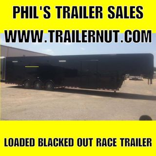 40 LOADED GOOSENECK RACE TRAILER CONTINENTAL CARGO